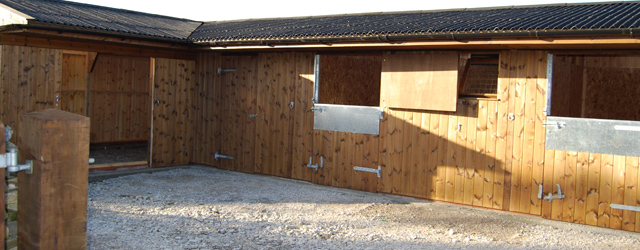 Wooden stables