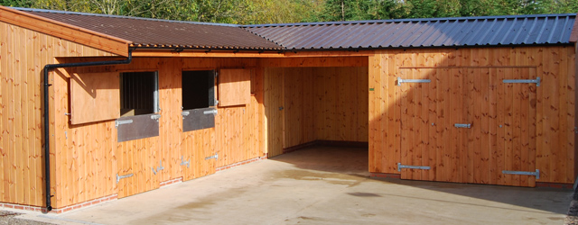 Heavy duty wooden stables